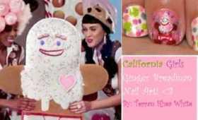 California Girls Summer Nail Art GingerBreadman