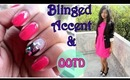 Blinged Accent Nail And OOTD