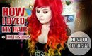 How I Dyed My Hair Extensions Red Orange and Yellow   Fire Hair