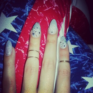 My nails on 4th of july
