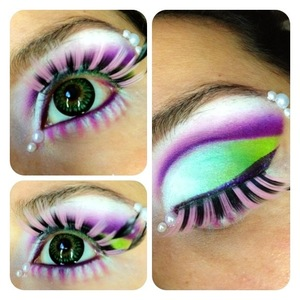 A fun twist on maire antoinette. I used all sugarpill eyeshadows :)