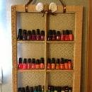 D.I.Y. Nail polish rack