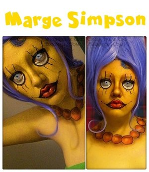 Wanted to attempt Marge, as a transformation, but ended up doing my own thing with it.  Hahaa.