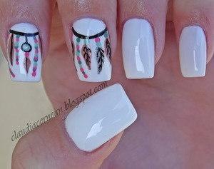Tutorial on : http://claudiacernean.blogspot.ro/2013/10/unghii-dream-catcher-dream-catcher-nails.html