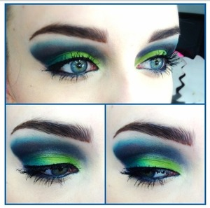 This is my makeup look for the day! What mood would you say this look evokes? :)