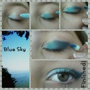 Blue Sky smokey eye