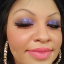 Purple/Black Glitter; Pink Lips