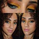 Yellow/Orange/Blue Makeup
