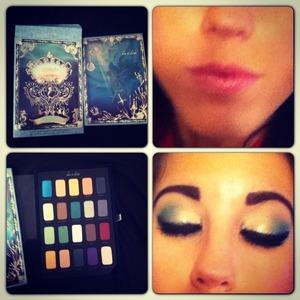 @ashley_brooke_beauty  follow my Instagram page   Little mermaid tutorial look 1 #littlemermaidpallette#littlemermiad#eyeshadows#tutorial#makeup#eyeshadowlook#disneycollection#sephora#littlemermaideyeshadow#goldamdteal#softpinklips#buxomlipgloss