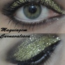 Gold glitter and black eyes