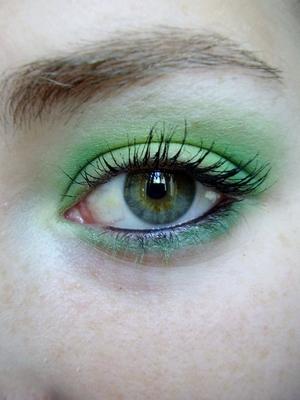 green 3d highlight effect