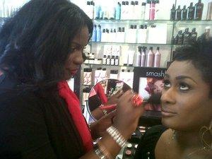 Me doing what I love at Planet Beauty!  facebook.com/makeupbyshanilton