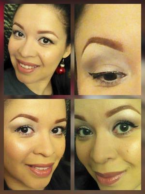 Products used: BH liquid eyeliner, Sephora glitter eyeliner, Maybelline Dream liquid mousse, ELF hypershine gloss, Femme Couture eyeshadow