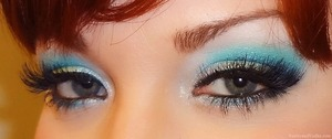 For more info on this look, please visit: http://www.vanityandvodka.com/2013/08/bright-bluegreens-with-sugarpill.html xoxo! Colleen