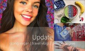 UPDATE: Going VEGAN, Travel Vlogs & Fashion Degree | Dillon Alexandra