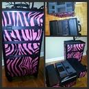 Yazmo Pink Zebra Professional Makeup Case