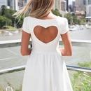 White heart dress