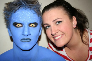 Avatar look! Perfect for Halloween :)