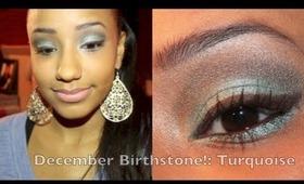 December Birthstone Makeup Look: Turquoise Stone