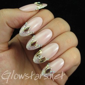 Read the blog post at http://glowstars.net/lacquer-obsession/2015/02/studded-rhinestone-glitter-french-tips/