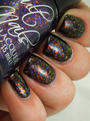 Cult Nails Seduction over OPI Lincoln Park After Dark. Full blog post: http://www.lacquermesilly.com/2013/11/09/cult-nails-seduction/