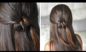 Celtic Knot Half-Up Half-Down Organic Hairstyle