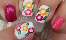Nail Art - Basic Easy Flowers for Beginners - Flores Basicas y Faciles para Principiantes