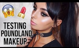 TESTING POUNDLAND MAKEUP! - DOES IT WORK??