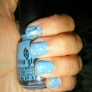 China Glaze, Electric Blue and Konad
