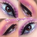 Pink purple coral and glitter