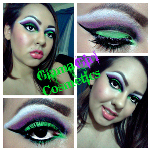 New Look: The Joker A green and purple cut crease inspired by the joker from dark knight!  For some awesome bright colors like these please visit http://www.glamagirlcosmetics.com !!!! There are some really AWESOME products!!!