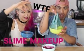 DIY SLIME MAKEUP WITH WENGIE !! WEIRD AF!!