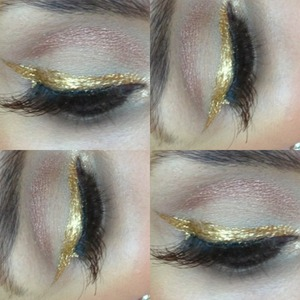 Hello!! By now you all know Im really enjoying fall makeup..So today I am trying this new GOLD eyeliner which is perfect for a night out! It is really pigmented and the tip is really thin so you can go for a thin or a wider line...I am wearing some lashes from MAC which are longer on the outer corner..If you want to make a statement during the holidays, you should try this liner! Hope you Like!