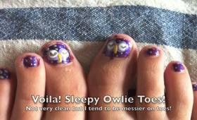 Sleepy Owl Nails