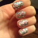 glitter nails (:
