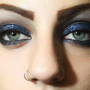 Brown and Blue Glitter