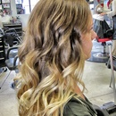 Caramel to sunlight blonde ombre...