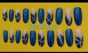 GNbL - Blue Alternating Flower Petal French