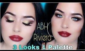 3 Looks 1 Palette I ABH Riviera Palette Eyeshadow Tutorial