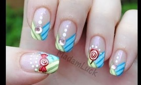 Candy Striped Nail Art Tutorial
