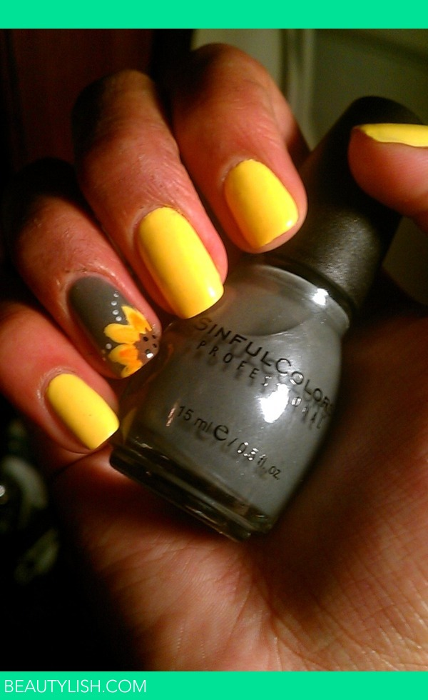Sunflower Nails Monica M S Photo Beautylish
