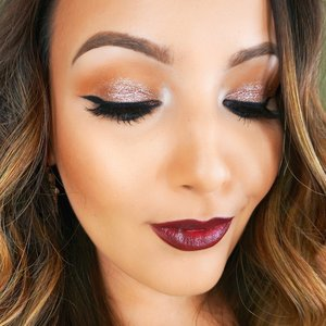 This fall glam tutorial is on my YouTube! I love dark lips :) YouTube.com/TheBeautyBox1211