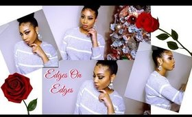 How To Lay Your Edges !! Tutorial   Rainee Jackson