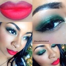 Red and Green Holiday Look!