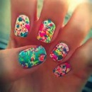 Splattered paint nails