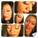 Neutral eye and bold lip