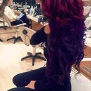 Red & purple hair