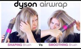 DYSON AIRWRAP Shaping vs Smoothing Brush on Short Hair