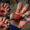Rainbow Pattern Nails