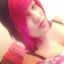 Pink and black Lucious Hair :-)